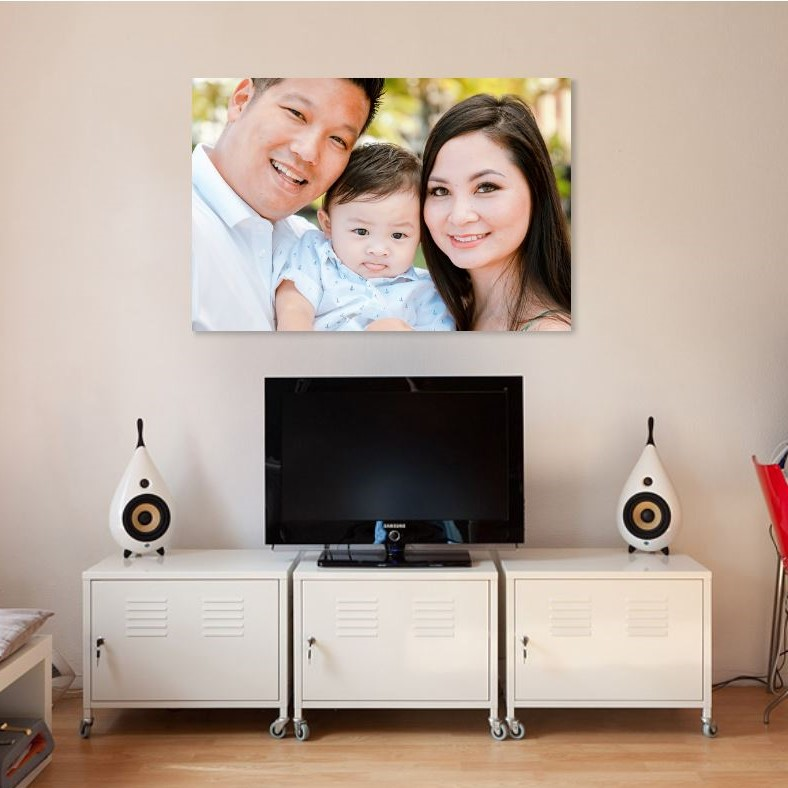 family portrait wall metal print living room