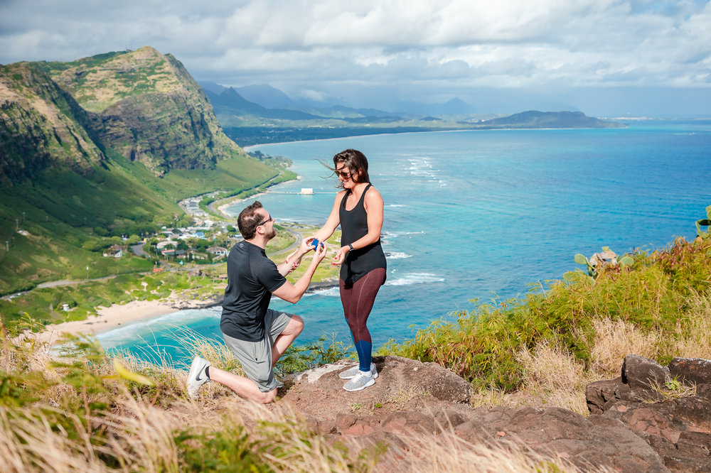 mountain top surprise proposal hawaii