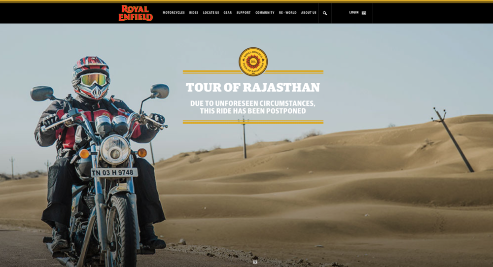 Royal Enfield Tour of Rajasthan
