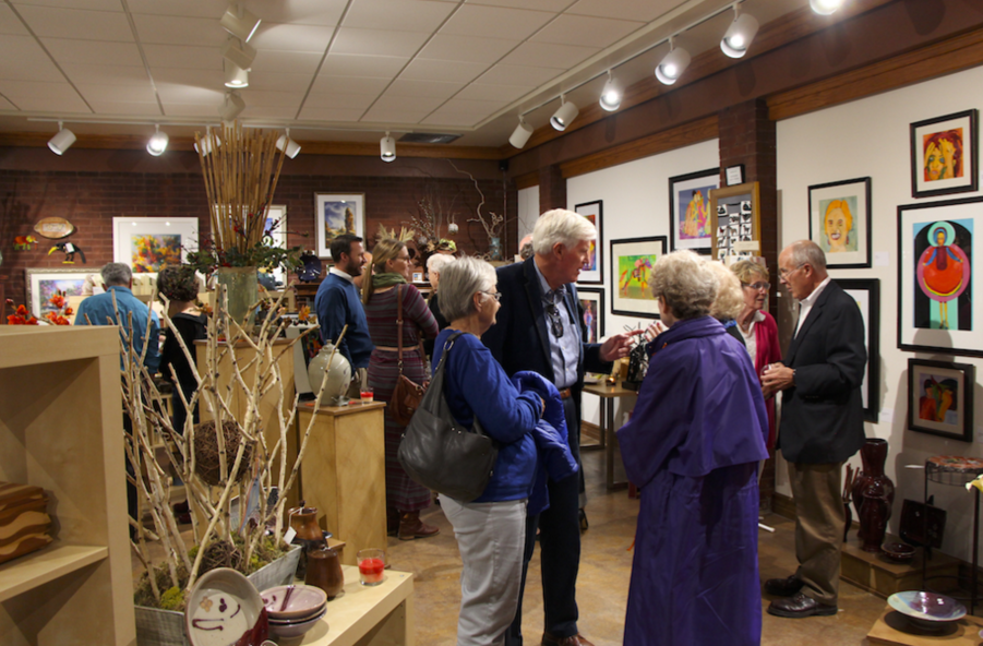 Reception for solo exhibit, October 2, 2015