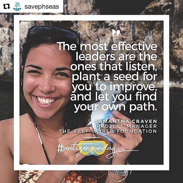 "Find the link to the interview in Save Philippines Seas profile #Repost @savephseas with @get_repost ・・・ ""Octopuses have three hearts. We should all be more like Octopuses,"" shares Sam Craven, Project Manager of The Reef-World Foundation. 🐙  For this week's #SeatizenSunday, Sam talks about the need for responsible tourists and tour operators to conserve coral reefs, and the difficulty of giving up unsustainable seafood. Link in bio 🐳  #savephseas"