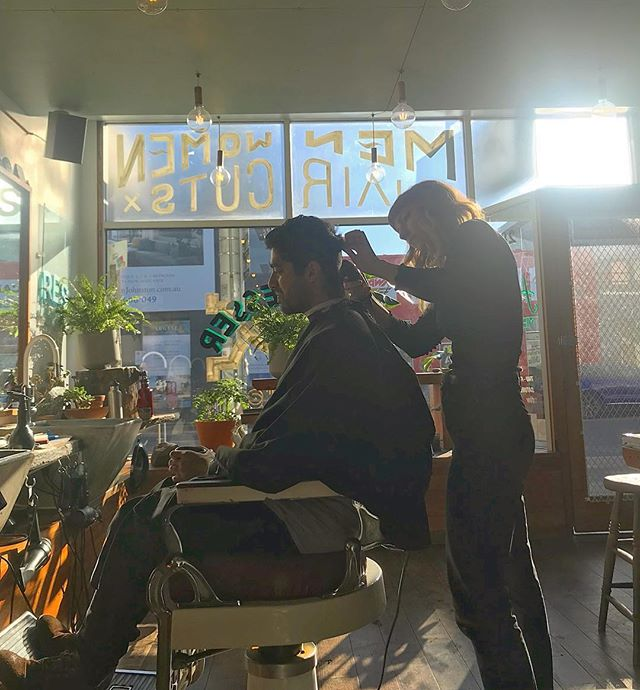 Sunny mornings, Coffee and haircuts... could it get any better? ⠀ -⠀ -⠀ Book with Katie...⠀ Share in the excellence... Book Online⠀ templetown.com.au⠀ -⠀ -⠀ #excellence #templetown #localcraft #barberlife #barbershop #abbotsford #melbourne #naturalsupernatural #magicorganic #coffeehairspray #beard #beardoil #fade #hair #haircut #fatboy #fatboyaus #besthair #melbsbest #greathairday #greathair #groomed