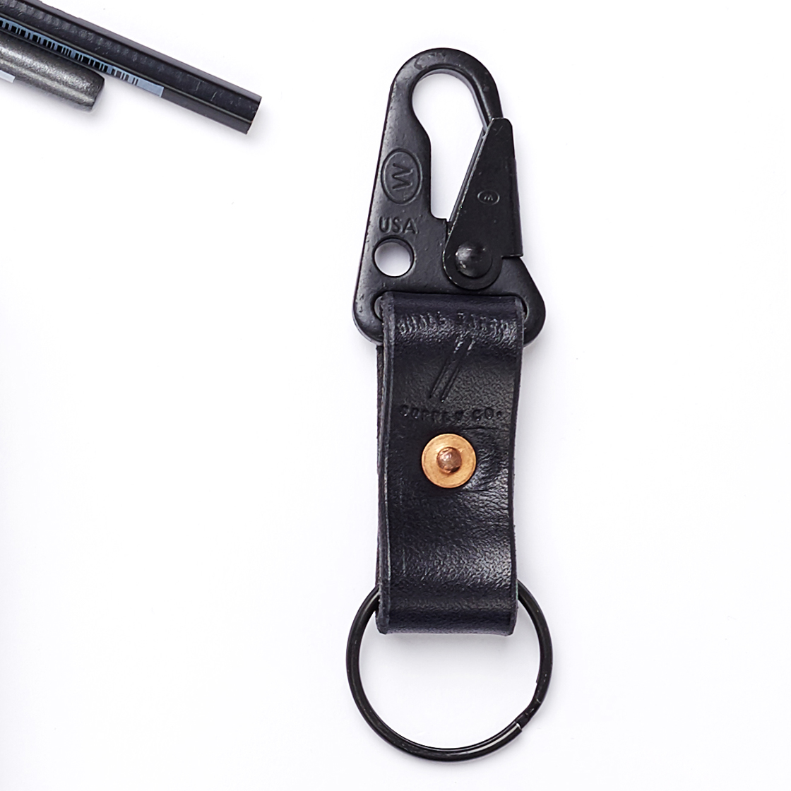 Black Leather Keychain | The LA Bliss - Los Angeles | Curated Gift Boxes |  Made in LA Gift Shop