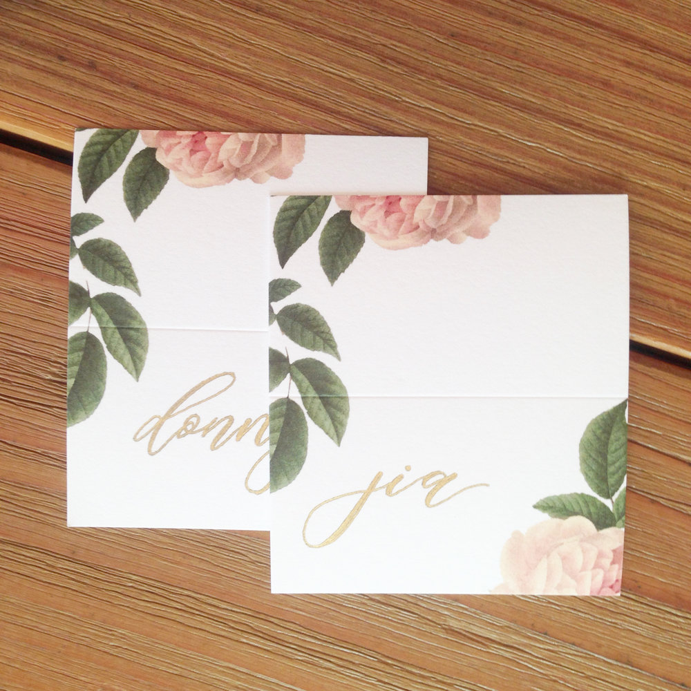Stephanie Wedding Custom Gifts Bridesmaids Placement Cards