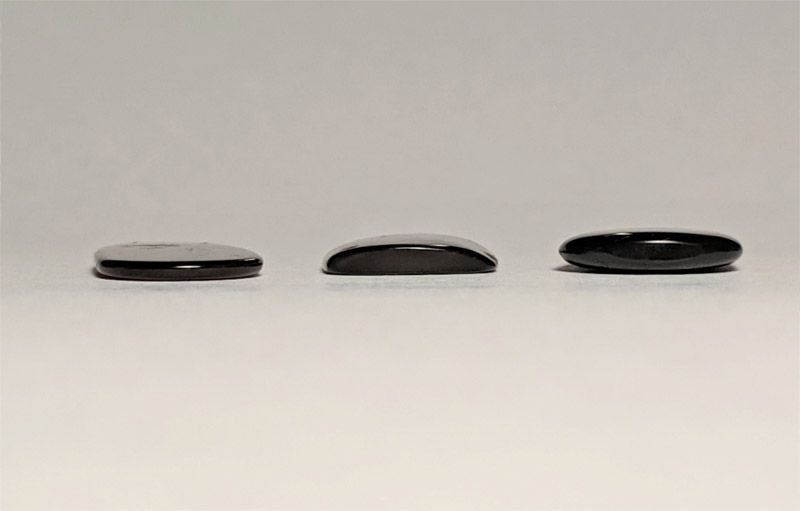 From left to right: 1.5mm, 2.8mm, 3mm