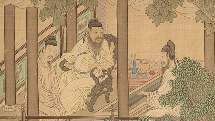 Scene from The Four Accomplishments, painting from the 18th or 19th centuries. Image from The Center for the Art of East Asia , University of Chicago.