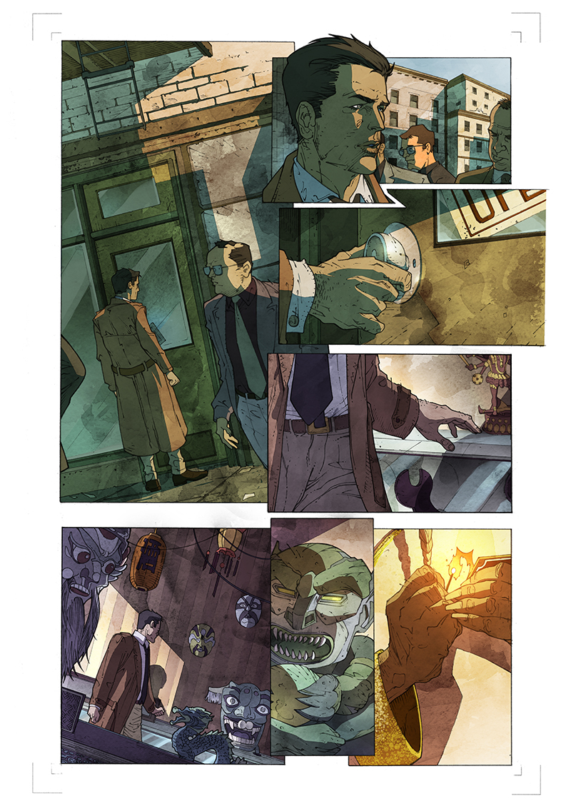 "Page from   ""Witchblade"" issue #125-Augury written by Ron Marz  Pencils: Marco Castiello  Colors: Barbara Ciardo  TOP COW"