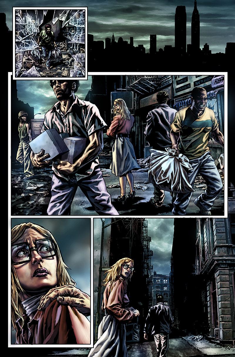 "Page from ""Before Watchmen: Rorschach"" written by Brian Azzarello  Pencils and inkwash: Lee Bermejo  Colors: Barbara Ciardo  DC COMICS"