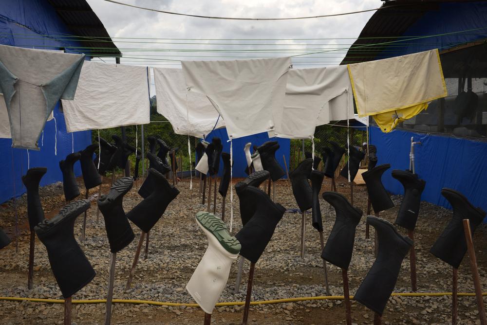 Liberia, Ebola Treatment Unit in Bong
