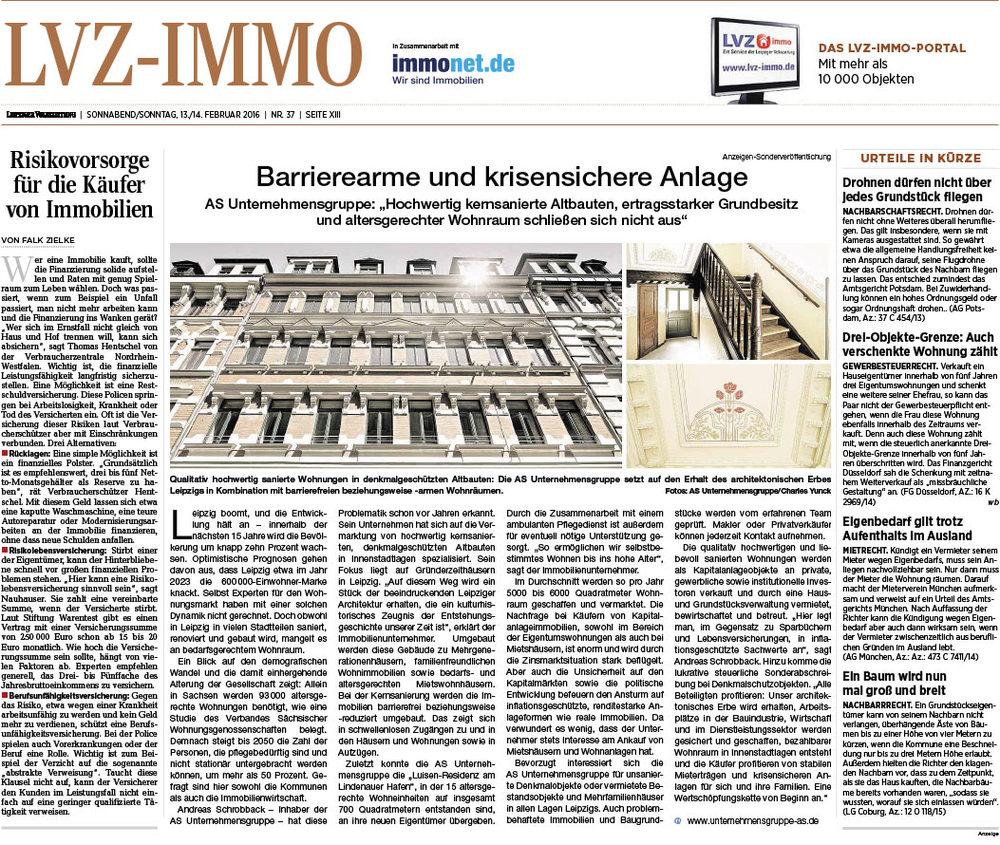 Leipziger Volkszeitung vom 13.02.2016