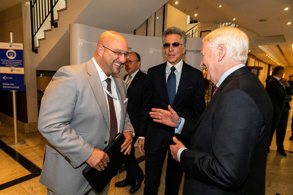 Andres Schrobback im Gespräch mit Werner M. Bahlsen und Bill McDermott