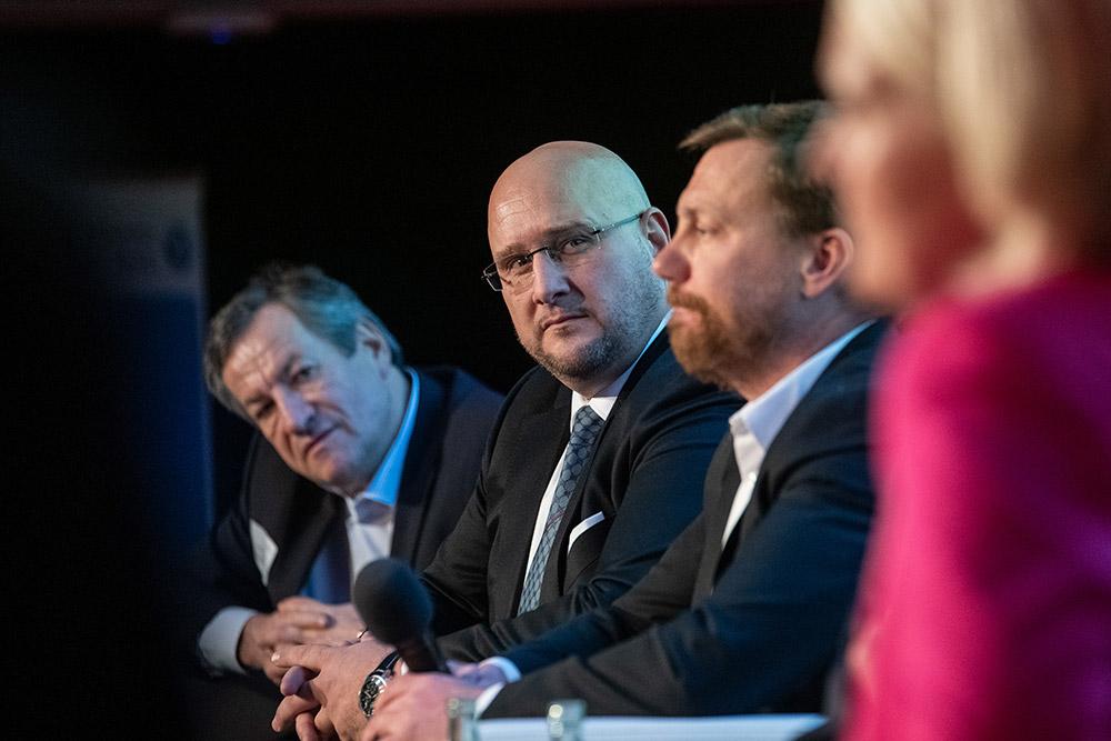 Andreas Schrobback  während der Podiumsdiskussion