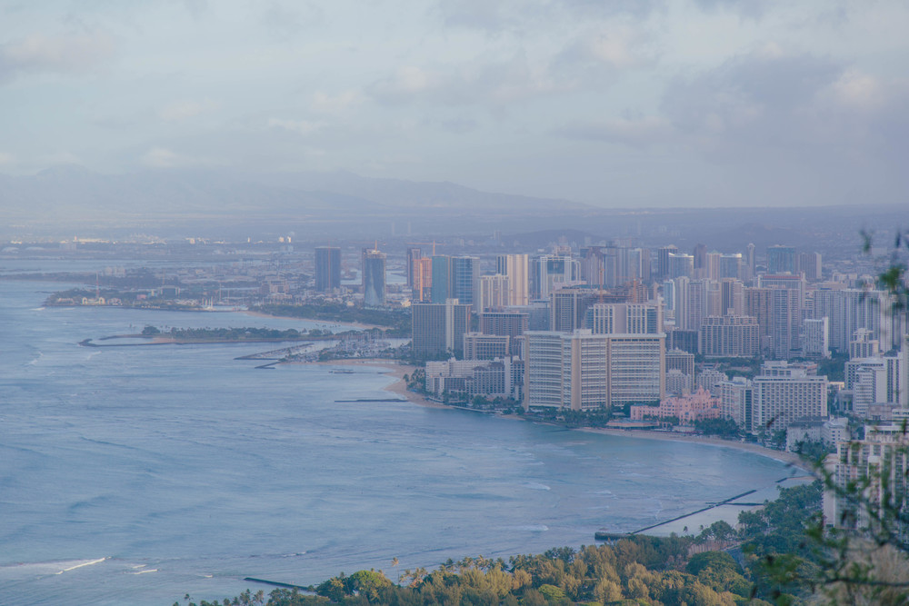 Waikiki Beach from Diamond Head