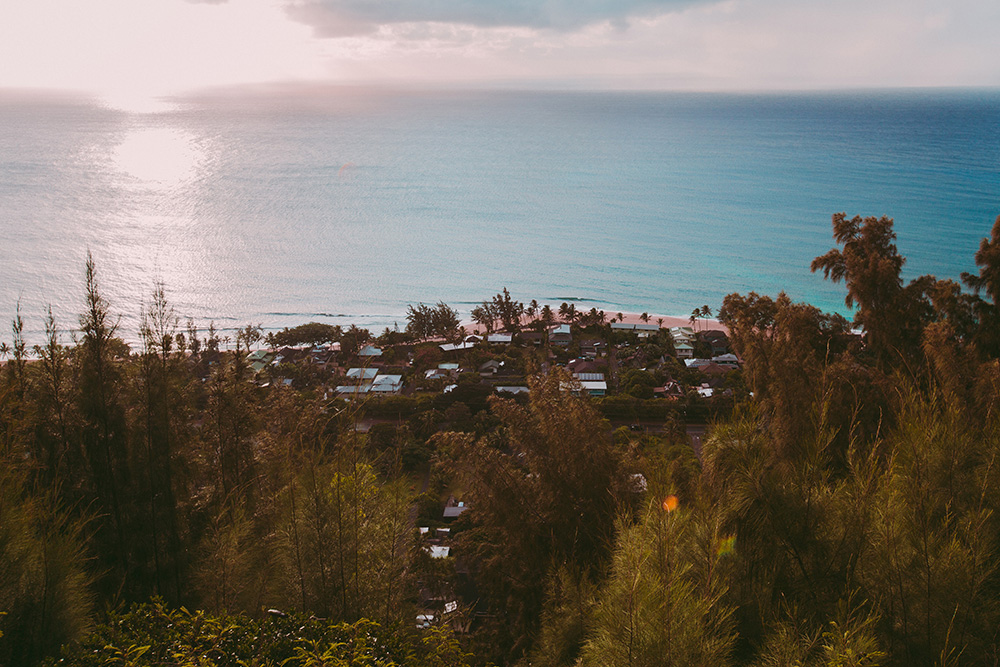 Looking down on Pipeline from the Ehukai Pillboxes