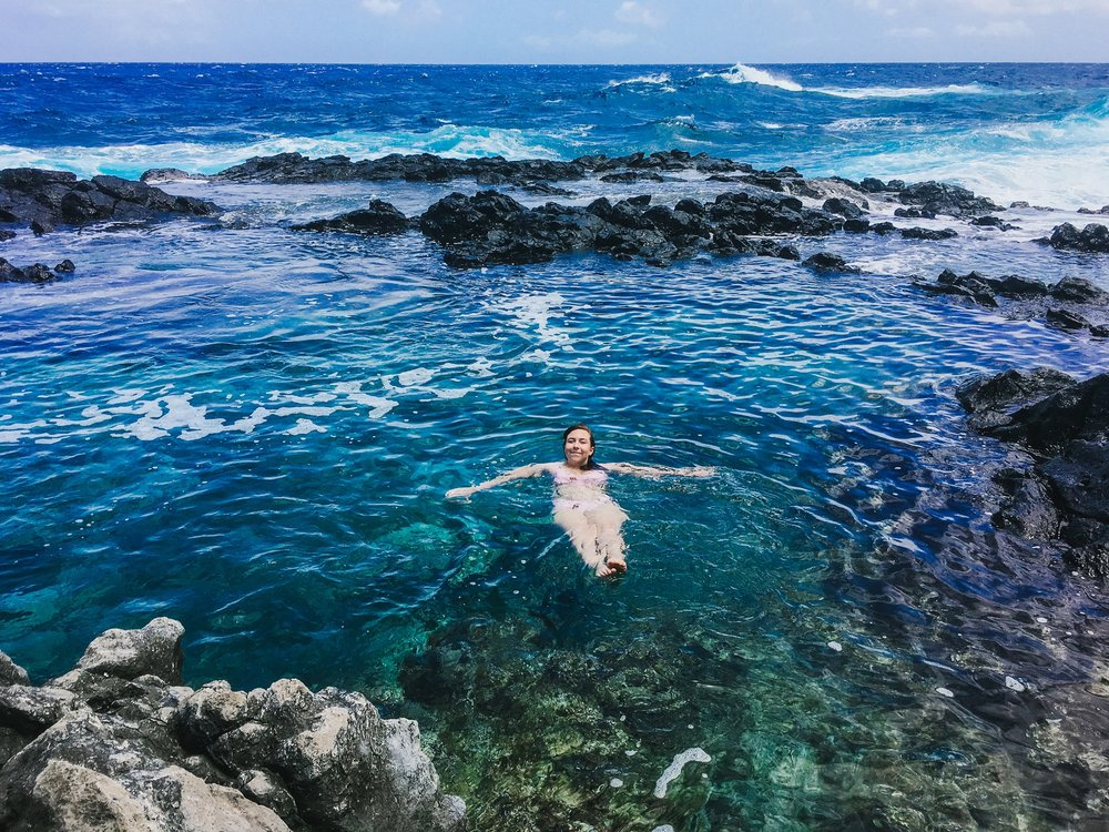 Swimming at Makapu'u Tidal Pools is literally a dream