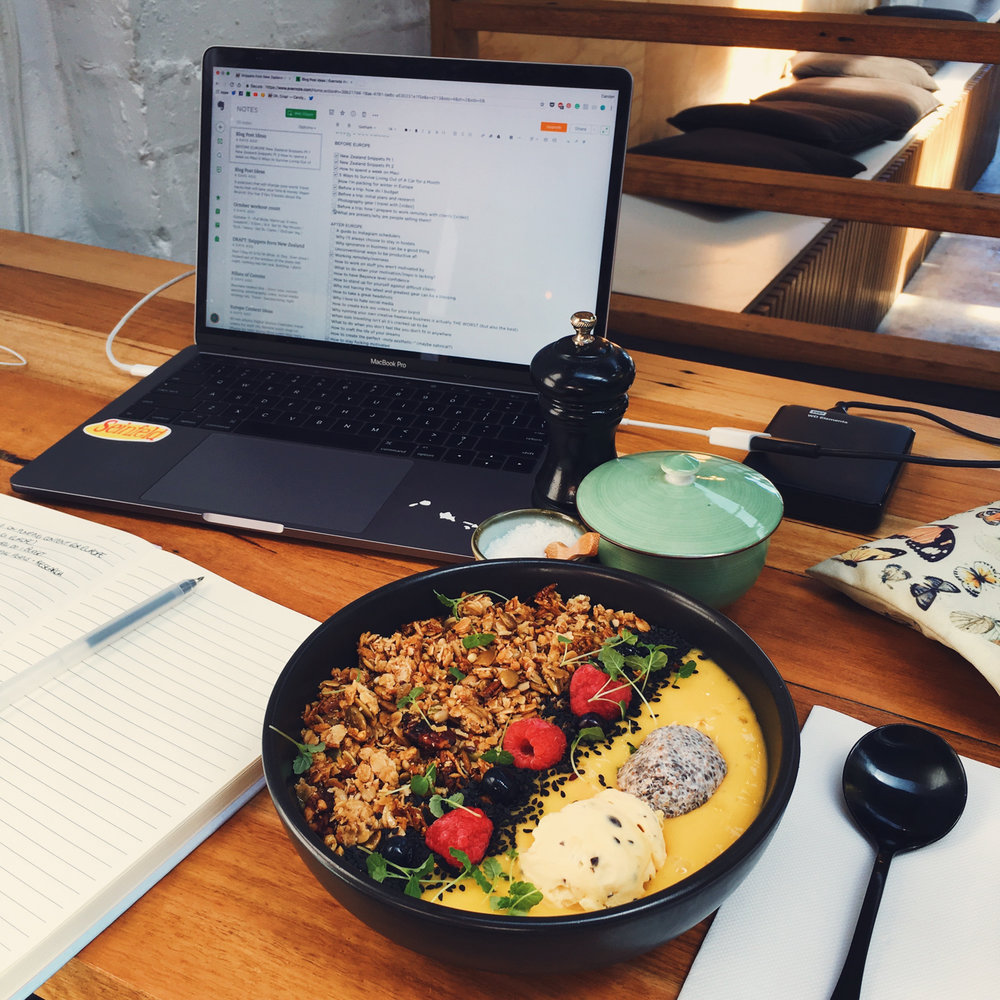 When I wasn't at the bar or working with a client, I was working from cafes around Geelong.