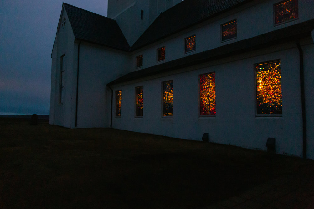The sun began to rise as we left the church
