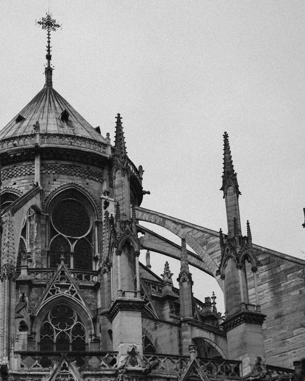 Notre Dame is famed as a prime example of classic gothic architecture. Here you can see the flying buttresses and gargoyles that have inspired many writers and artists over its 850 year history.