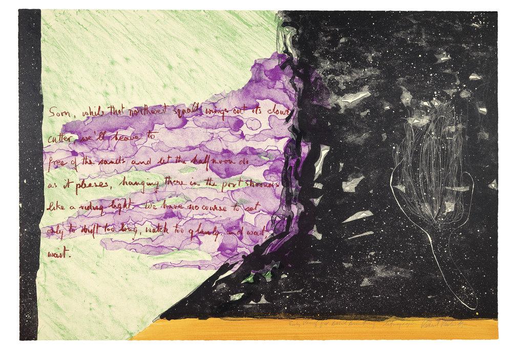 """Lithographie 23 """"x 32"""" imprimée par Maurice Sanchez chez Dierrier L'Etoile studios"""