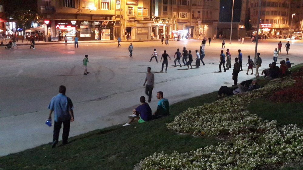 Night life in Gezi Park