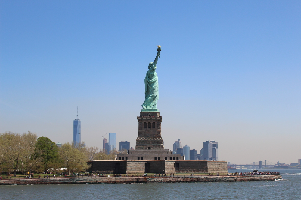 Lady Liberty from Ellis Island boat