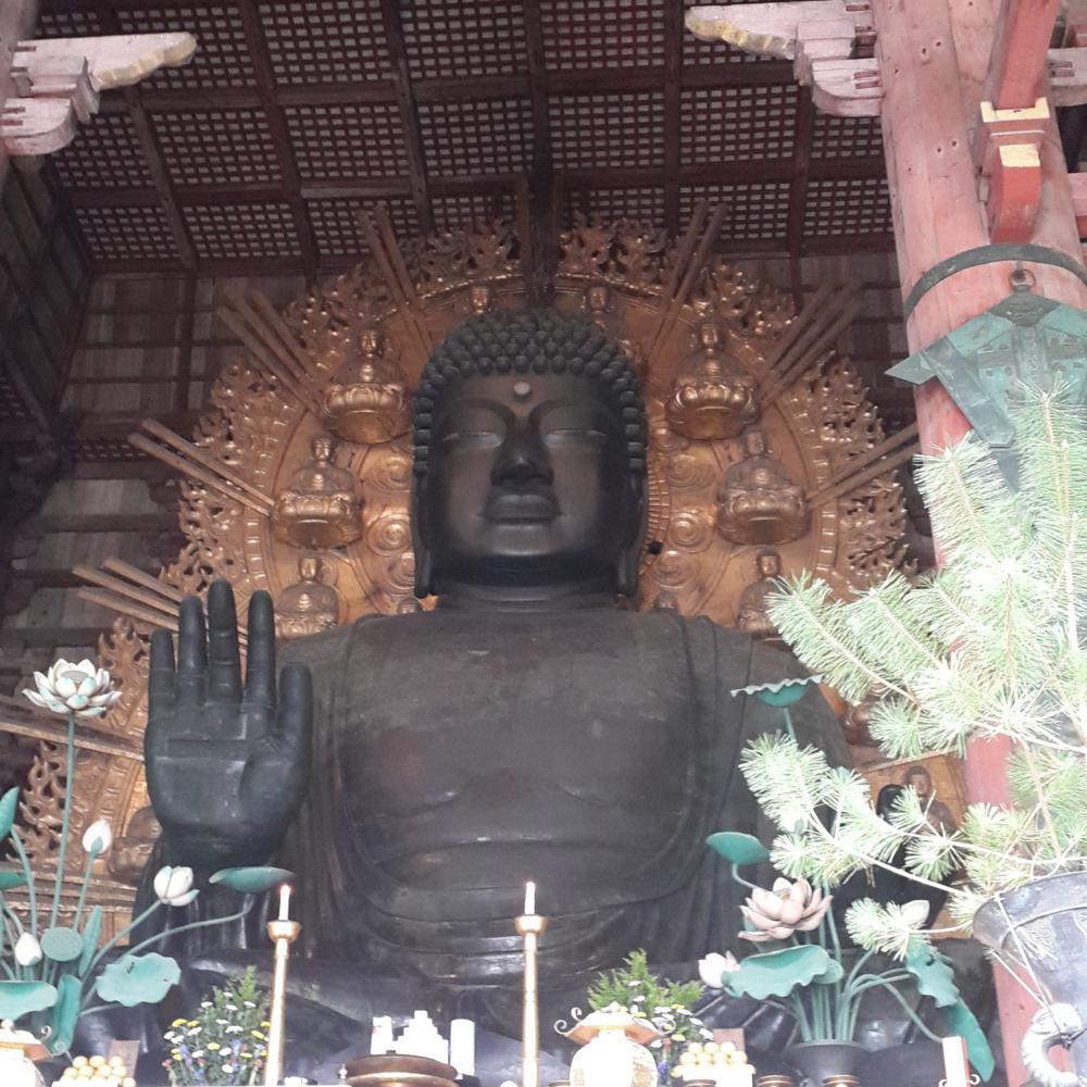 The bronze Buddha