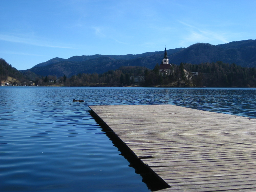 Lake Bled and the only island in the country