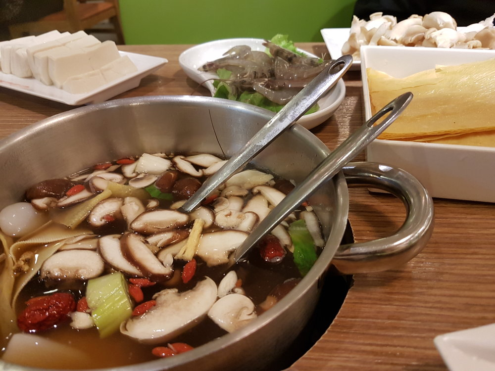 Hot pot with fish & soy