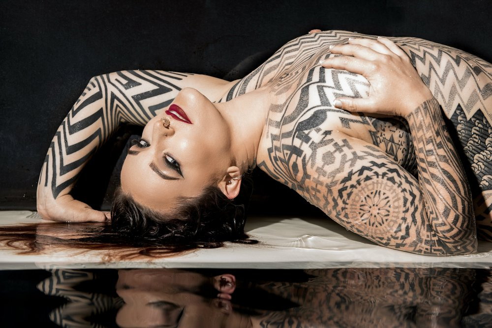 Miss Tallula Darling kinky escort, tattooed escort, femdom, Pro Domme,  Mistress, BDSM dominatrix, painted lady, melbourne escort, melbourne mistress