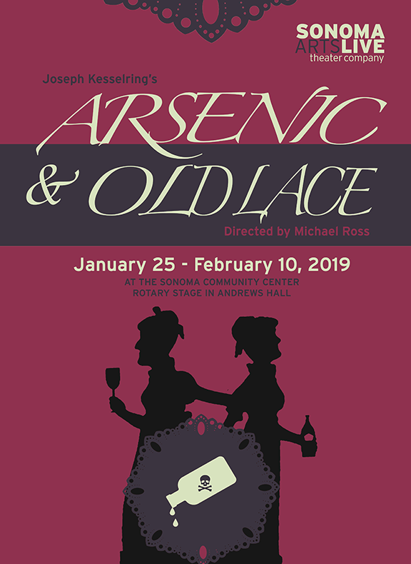 Written by Joseph Kesselring Directed by Michael Ross  Another beloved theater classic is this well-loved iconic comedy! Take two old ladies, add a dash of elderberry wine, and a misguided mission to serve humanity and you get this wildly funny, absurd comedy.