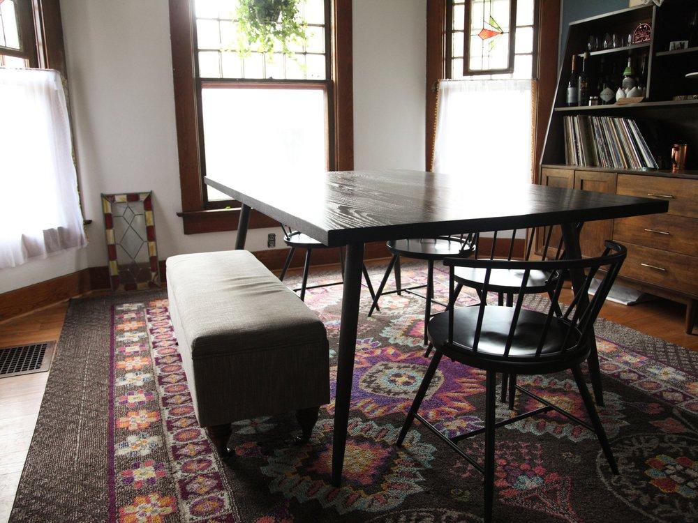 Mid Century Modern - Ebony Stained Oak
