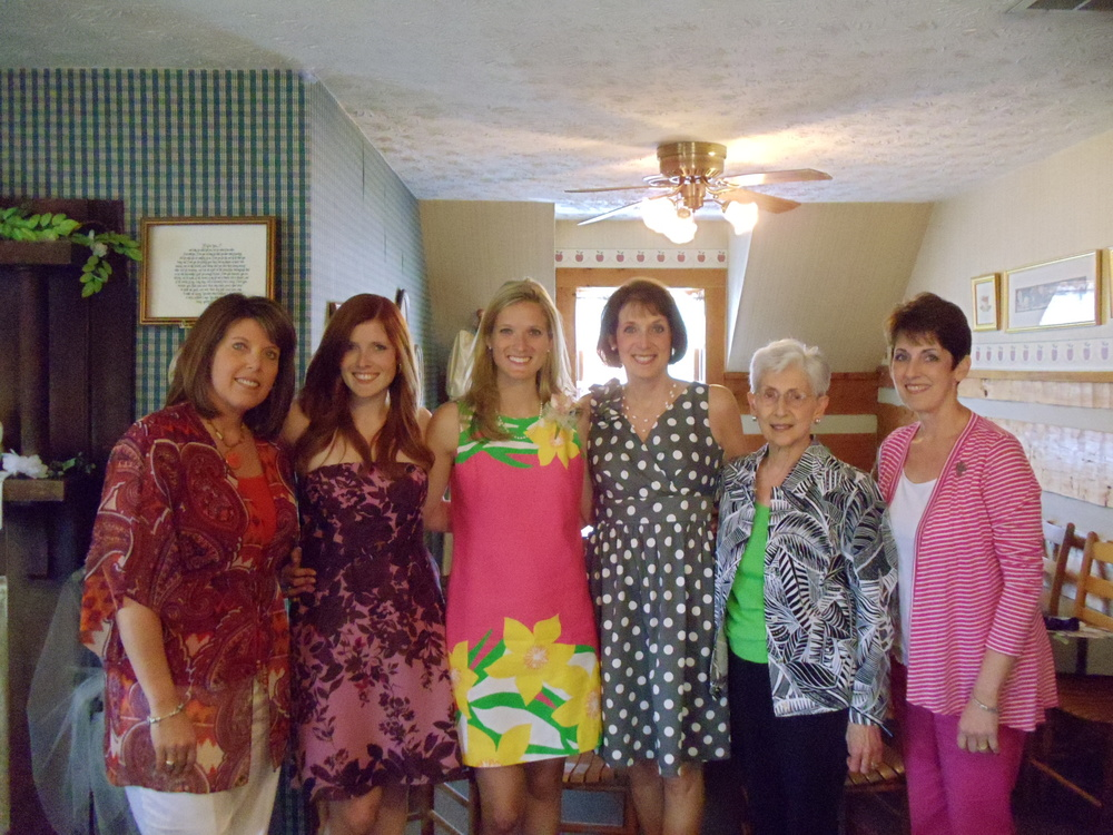 my female family members with me at one of my bridal showers