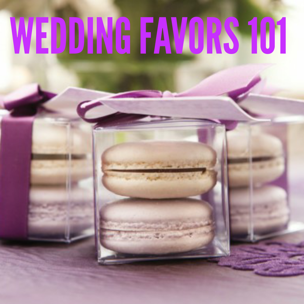 Using your wedding colors, like the ribbons here, is a nice touch too!