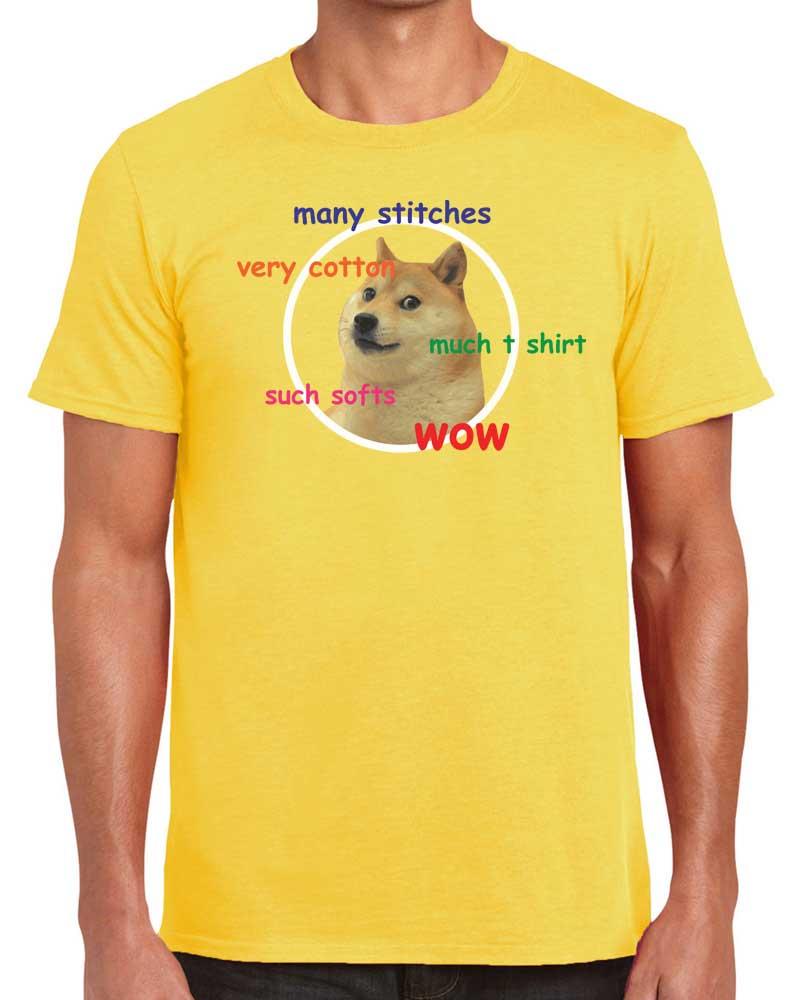 Doge+Meme+Many+Stitches+Very+Cotton+WOW+T Shirt_YELLOW?format=500w doge meme much t shirt everythingfunky co uk