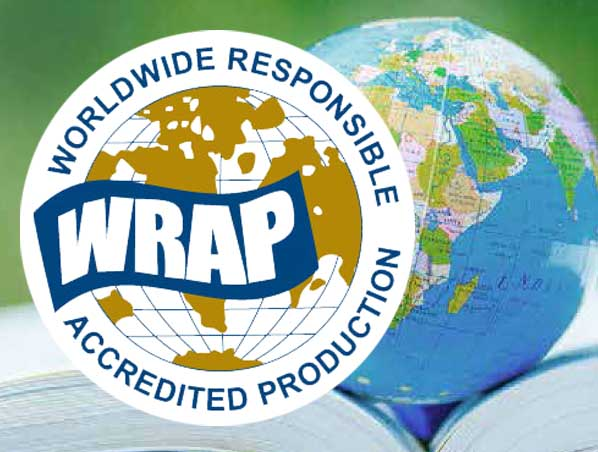 We use WRAP (Worldwide Responsible Accredited Production) garments.
