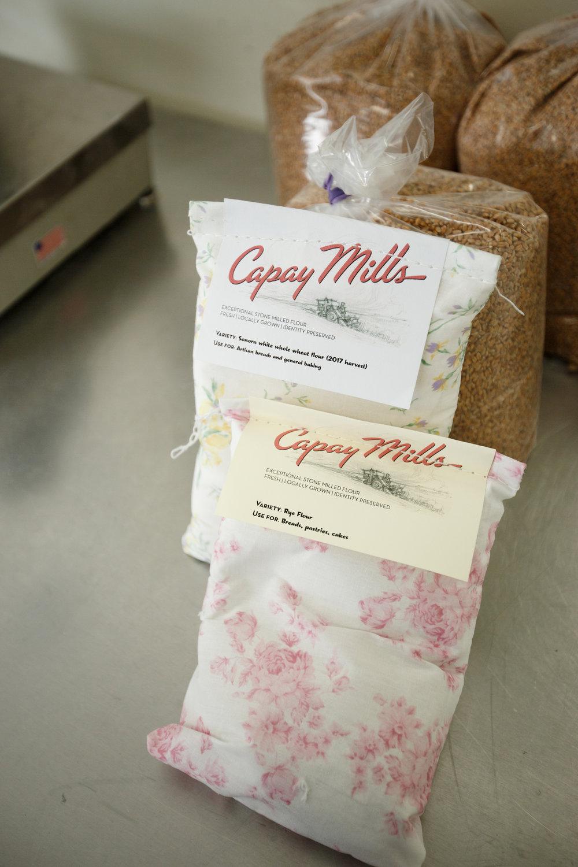 capay mills flour bags