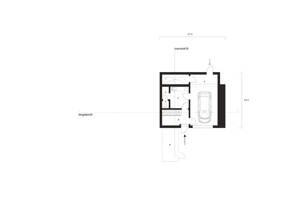 Villa Waage plan kjeller Wenzel Mielke