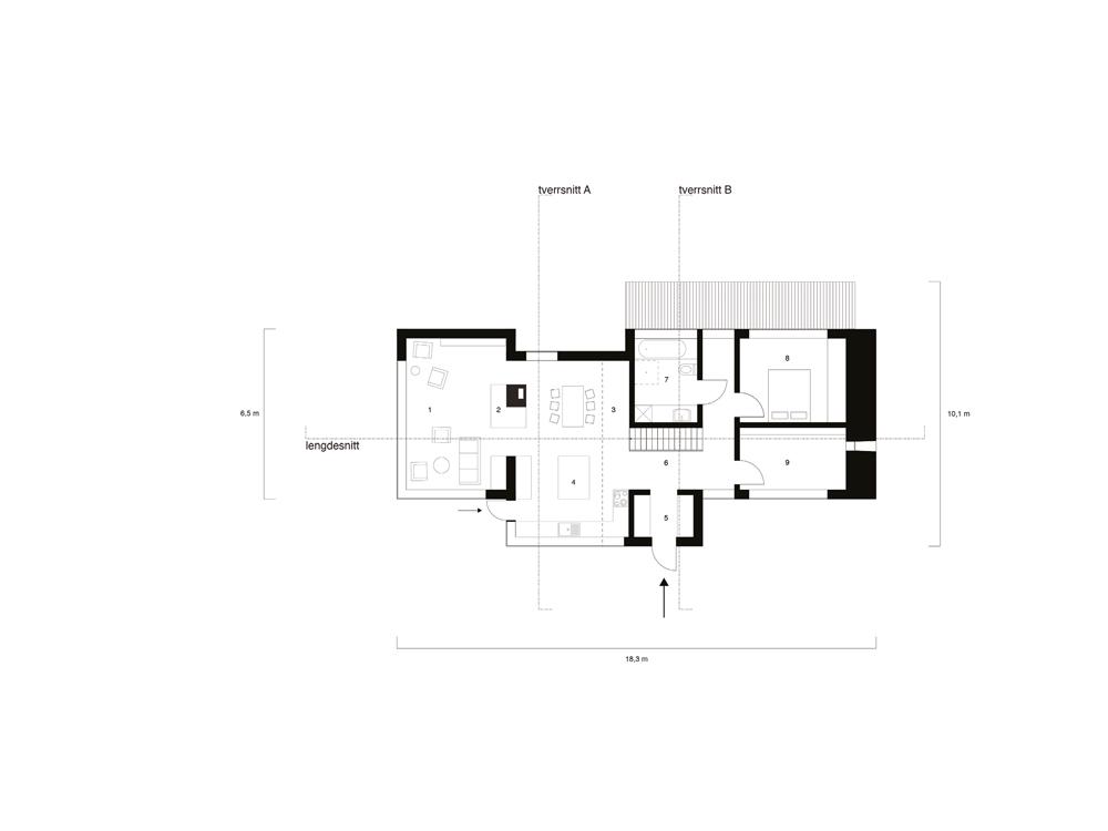 Villa Waage plan 1etg Wenzel Mielke