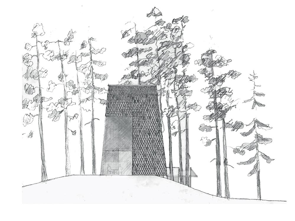 Utmark arkitektur skomakerdiket konkurranse varmaren fasade sør
