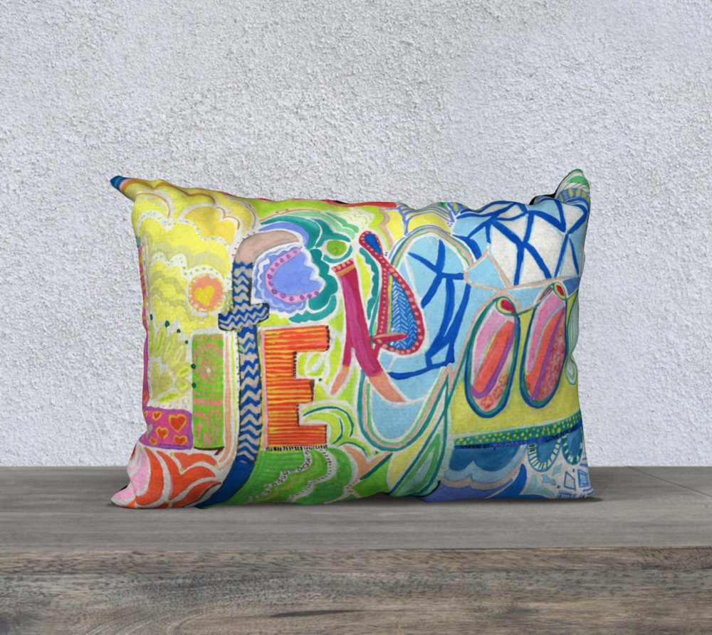 Order this Life is Good pillow case at the  Daniela DM Shop