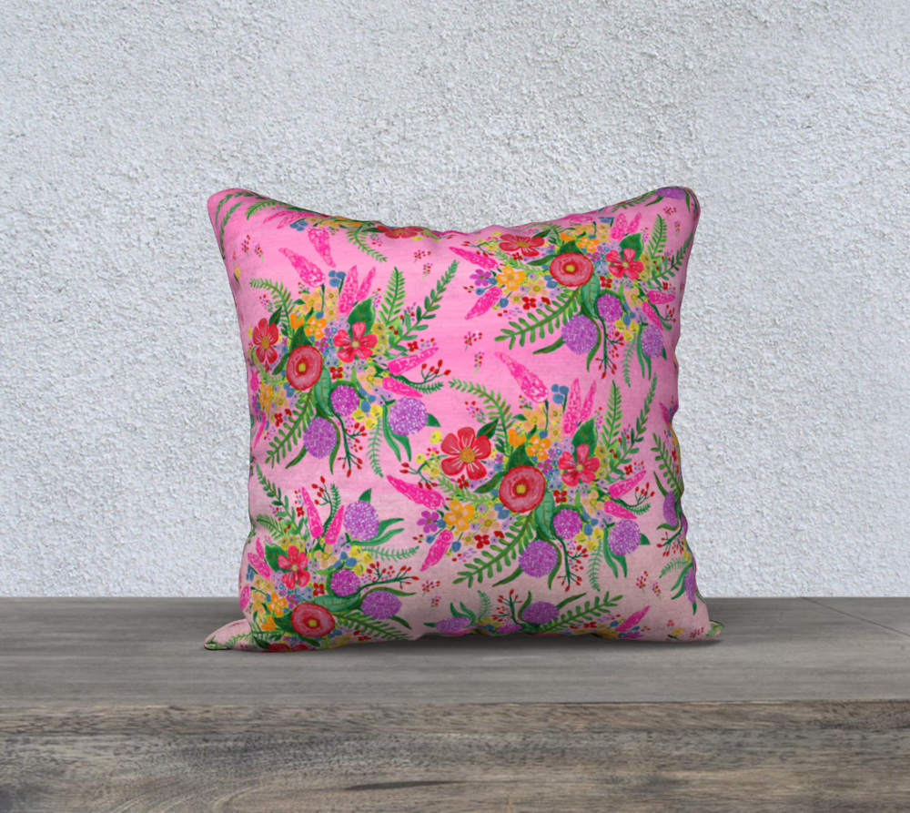 Who doesn't love florals?! This pillow cover is printed on a beautiful soft velveteen fabric that is perfect for a feminine bedroom.