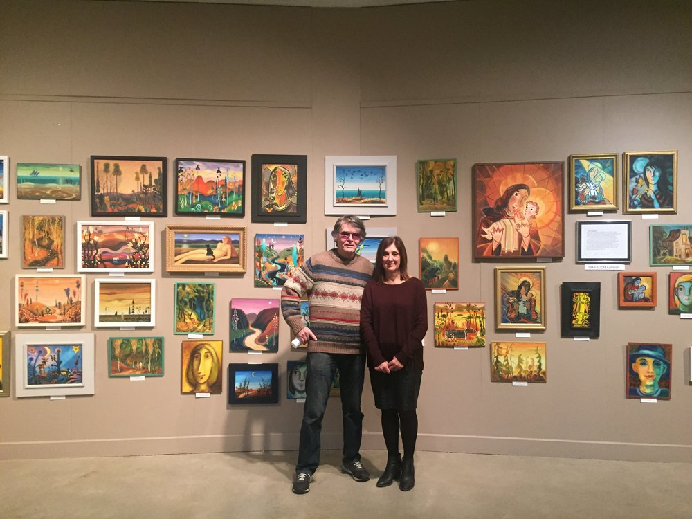 Here is Sami with Rosa Graci, Art Curator for Villa Charities J. D. Carrirer Art Gallery
