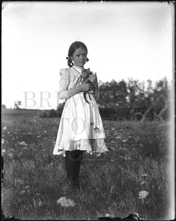 10. 1970.10.170  Mary Brett With Kitten c.1900 – photographer Caro A. Dugan