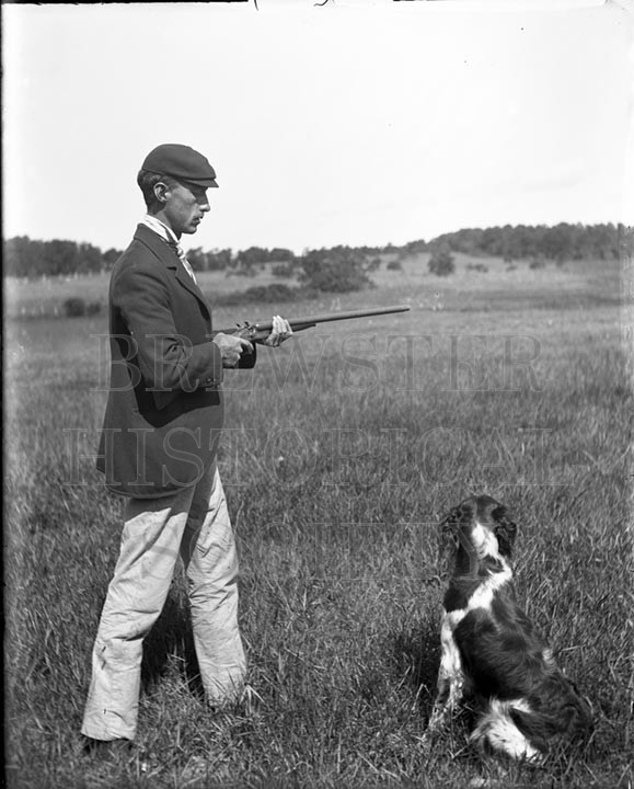 32. 1970.10.T236 JB and Dog and Gun c.1900 – photographer Caro A. Dugan