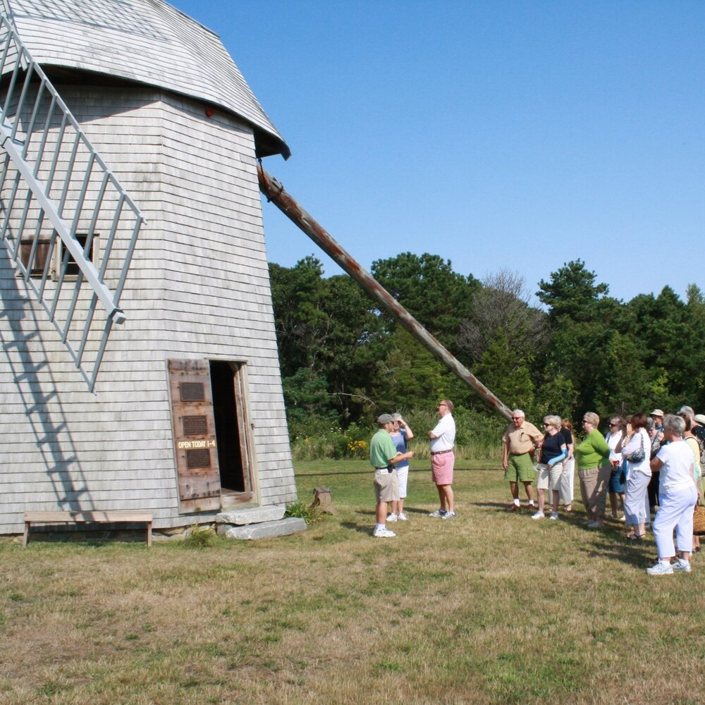Preparing to Tour the Windmill At the Widow's War Tour
