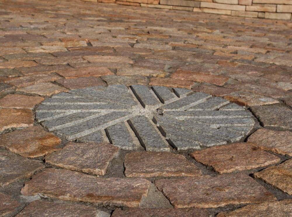 Gathering Area - Reclaimed Old Salem cobblestones
