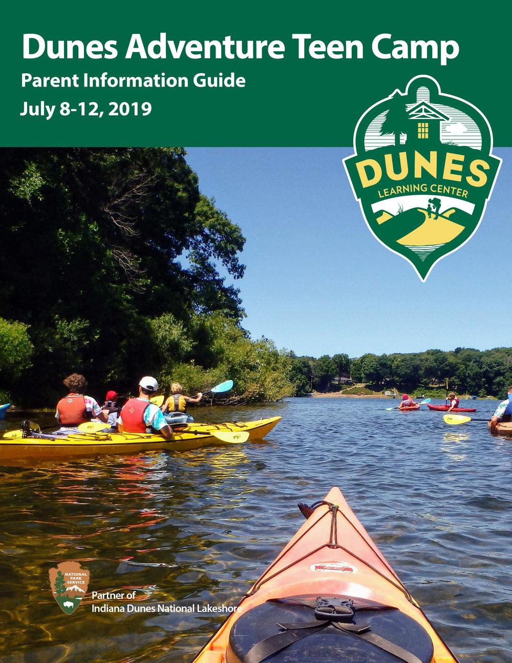 Dunes Adventure Teen Camp parent guide