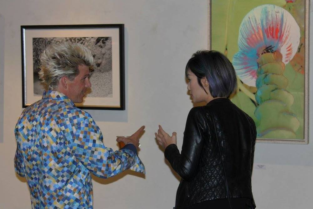 One of the gallery owners Matthew Winghart and myself. Photocredit: Alan Phillips