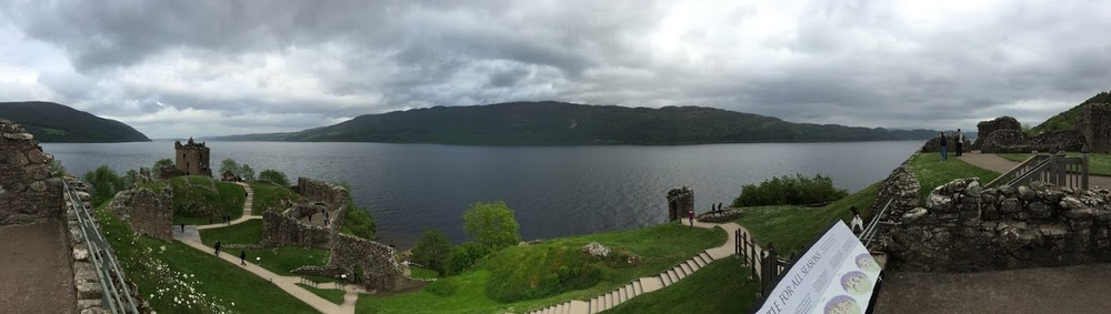 Panoramic view of Loch Ness from Urquhart Castle. Photo courtesy of the author.