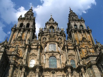 The Catherdral of Santiago de Compostela.